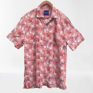 Tommy Bahama 100% Silk Red Shell We Dance Shirt
